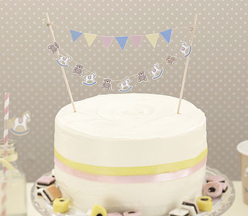 Rock A Bye Baby Cake Bunting Decoration