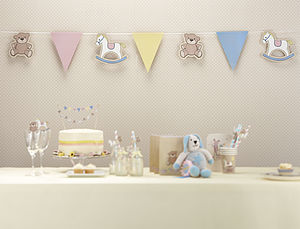 Rock A Bye Baby Paper Bunting - decorative accessories