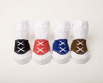 Set Of Four Oxford Baby Socks