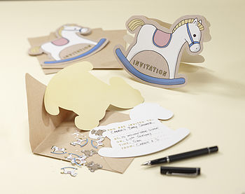Rock A Bye Baby Rocking Horse Invitations