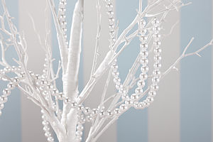 Pearl Garland For Wedding Centrepieces - bunting & garlands