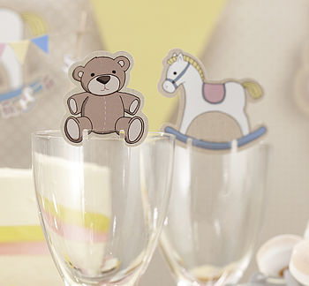Rock A Bye Baby Glass Decorations