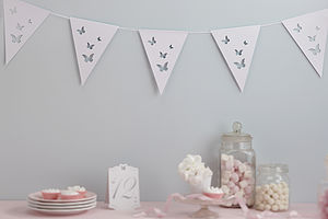 Butterfly Paper Bunting - weddings sale