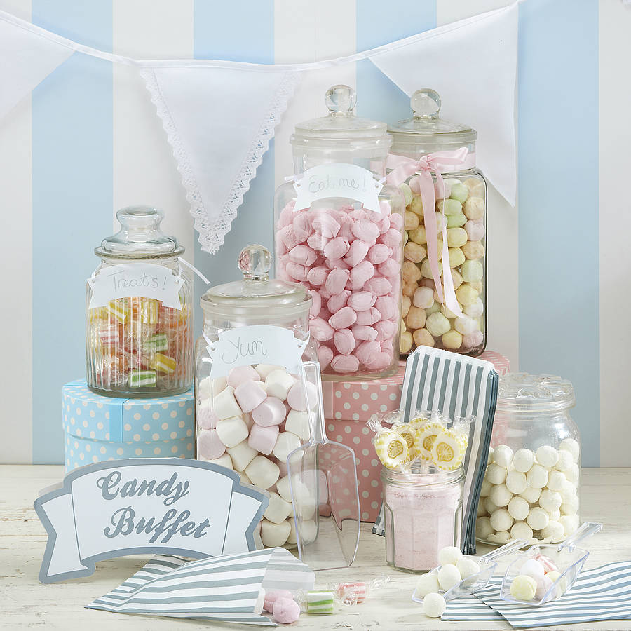 Candy Bar For Wedding Ideas: Candy Bar Kit With Scoops, Bags, Sign & Tags By Ginger Ray