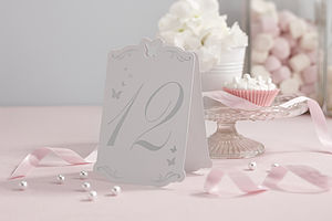 Butterfly Wedding Table Numbers
