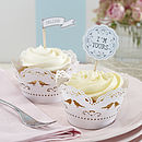 Pack Of 10 Paper Lace Cupcake Wraps
