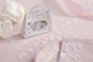 Biodegradable Heart And Butterfly Confetti - dining room