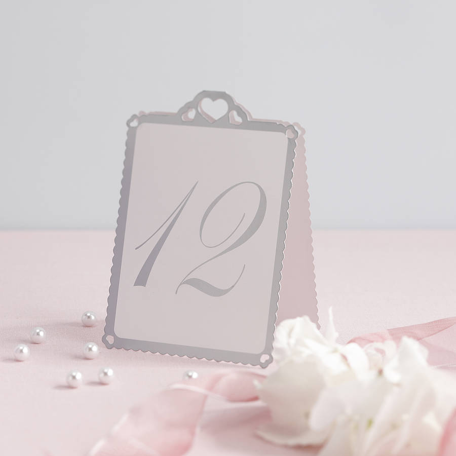 Heart Wedding Table Number Tent Cards & heart wedding table number tent cards by ginger ray ...