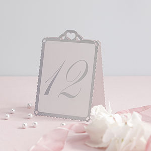 Heart Wedding Table Number Tent Cards