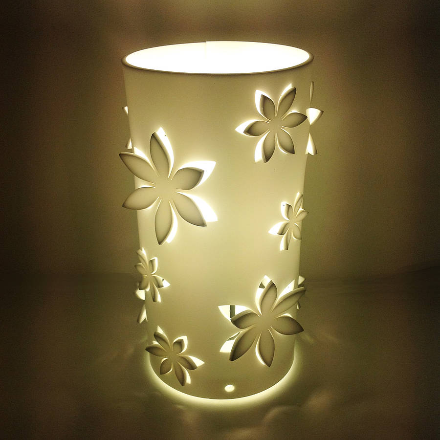 Flower Table Lamp By Kirsty Shaw Notonthehighstreet Com