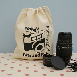 Personalised Photography Gadget Bag - gifts under £15