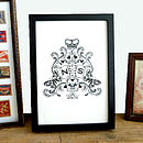Personalised Coat Of Arms Print