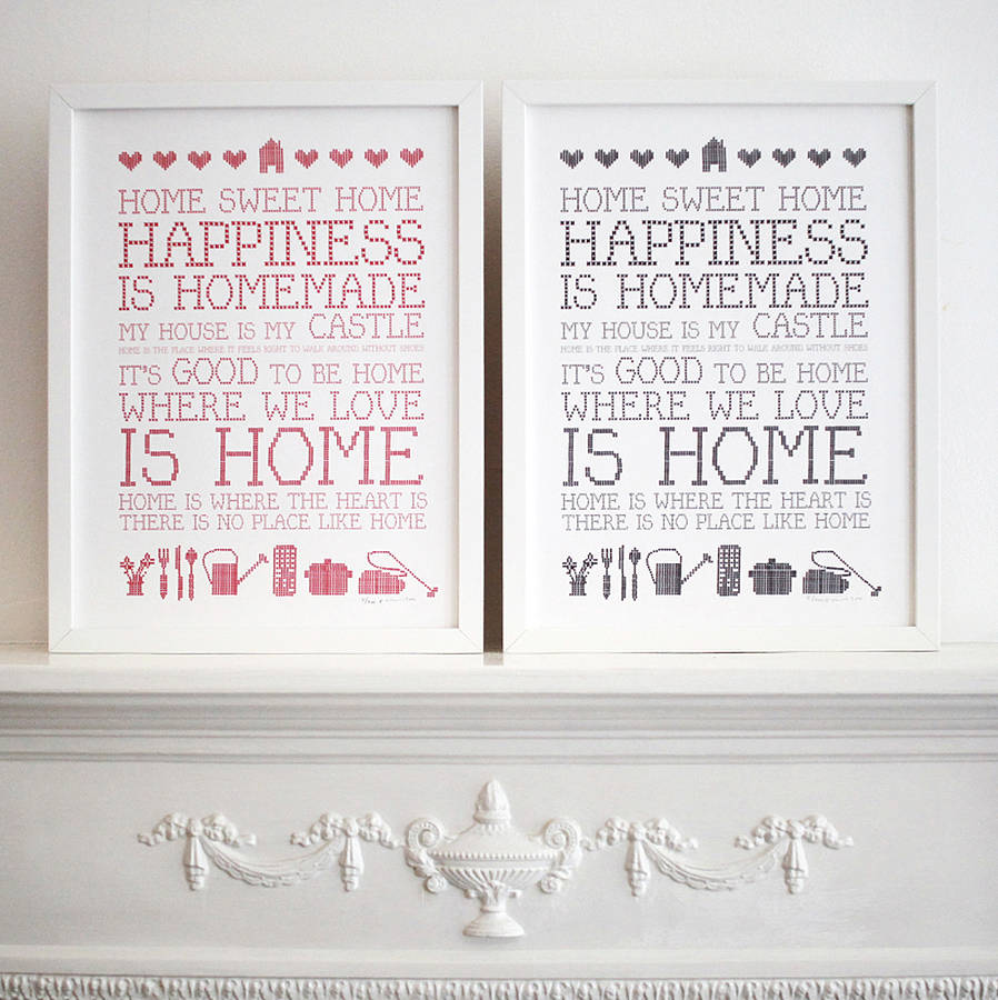 homepage gt; KARIN ÅKESSON DESIGN gt; 39;HOME SWEET HOME39; PRINT