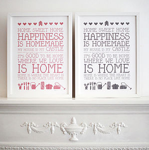 'Home Sweet Home' Print - new home gifts