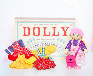Matchbox Doll Set And Dolly Clothes - soft toys & dolls