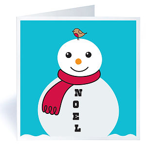 Pack Of Six Snowman Christmas Cards