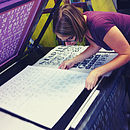 London Tube Stops Typographic Screen Print