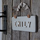 Personalised Door Sign- French Grey