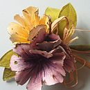 Hand Painted Silk Flower Corsage