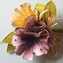 Hand Painted Silk Corsage
