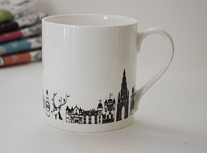 Illustrated Scotland Mug - mugs