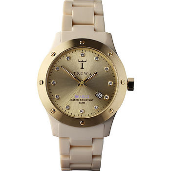 Gold Face Acetate Ladies Watch