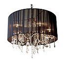 Black And Glass Chandelier Drum Shade