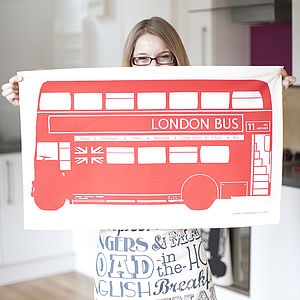 London Bus Tea Towel - kitchen accessories