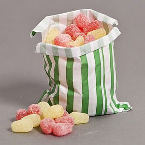 Pear Drops Sweet Bag - wedding favours