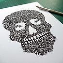 Sugar Skull Papercut