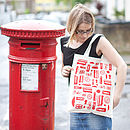 Great British Outline Canvas Bag
