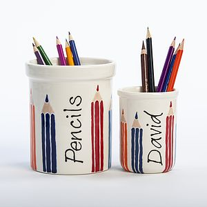Personalised Hand Painted Pencil Pot - stationery