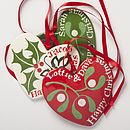 Personalised Hand Painted Christmas Heart