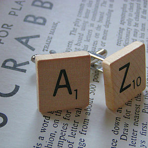 Personalised Vintage Scrabble Cufflinks - cufflinks