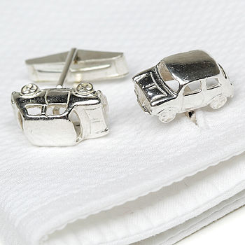 Solid Silver Mini Cufflinks