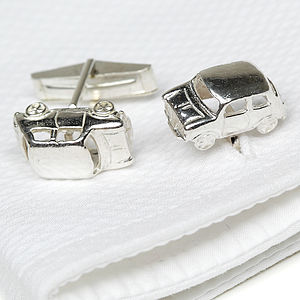 Solid Silver Mini Cufflinks - men's accessories