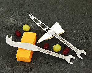 Set Of Two Spanner Cheese Knives