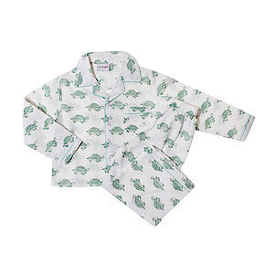 Hand Printed Turtle Children's Pyjamas