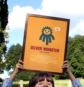 'Little Monsters' Personality Print - pictures & prints for children