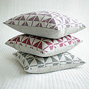 Berry Pink Patterned Linen Cushion Cover