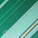 Ch'ay K'in - Green Striped Scarf
