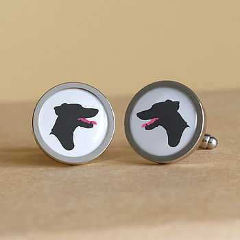 Personalised Pet Silhouette Cufflinks