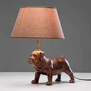 Decorative Pug Table Lamp - dining room