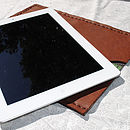 Personalised Handmade Leather Case For iPad