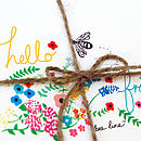 'Hello friend' Illustrated Bee Notecards