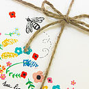 'Buzz' Illustrated Bee Notecards