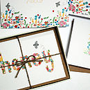 Assorted Bee Illustrated Notecards