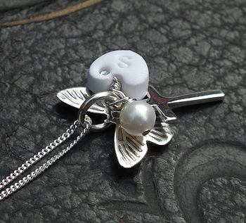 Butterfly Christening Necklace