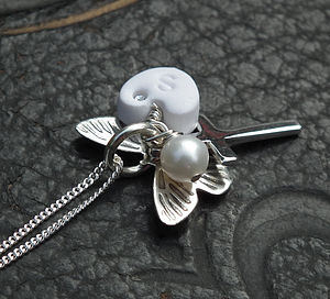 Butterfly Christening Necklace - children's jewellery