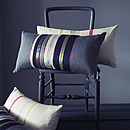 Cari Woven Striped Cushion